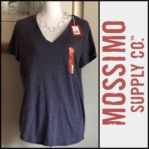 🆕WOMENS MOSSIMO COTTON V-NECK T-SHIRT In XL
